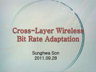 Cross-Layer Wireless Bit Rate Adaptation