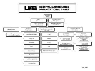 HOSPITAL MAINTENANCE ORGANIZATIONAL CHART