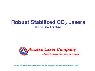 Robust Stabilized CO 2  Lasers with Line Tracker