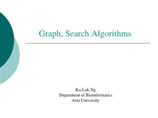 Graph, Search Algorithms