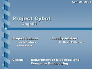 Project Cybot Ongo01
