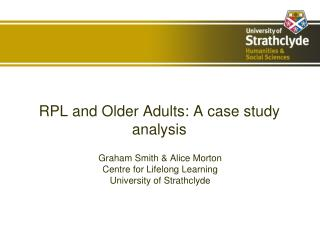 RPL and Older Adults: A case study analysis