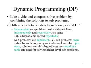 Dynamic Programming (DP)