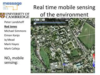 Real time mobile sensing of the environment