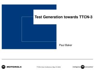 Test Generation towards TTCN-3