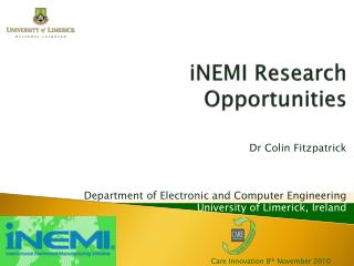 iNEMI  Research Opportunities