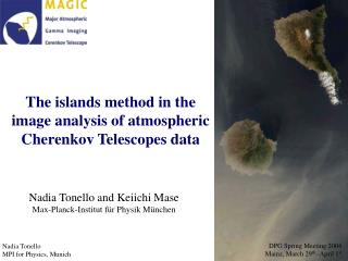 The islands method in the image analysis of atmospheric Cherenkov Telescopes data
