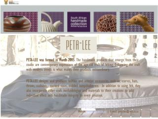 Website:  peta-lee.co.za  | E-mail: peta-lee@wol.co.za