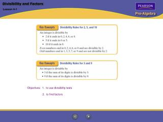 Divisibility and Factors