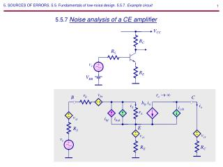 5.5.7  Noise analysis of a CE amplifier