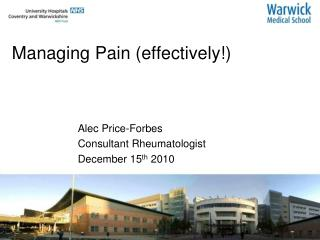 Managing Pain (effectively!)