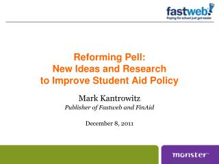 Reforming Pell: New Ideas and Research to Improve Student Aid Policy