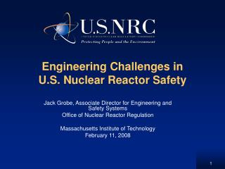 Engineering Challenges in U.S. Nuclear Reactor Safety