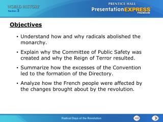 Understand how and why radicals abolished the monarchy.