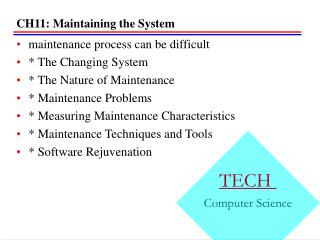 CH11: Maintaining the System