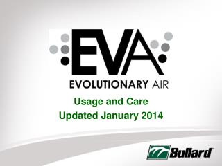 Usage and Care Updated January 2014