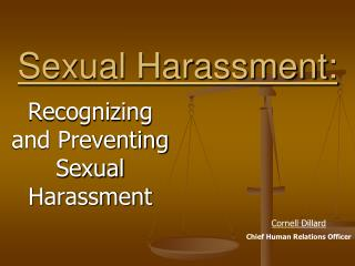 Sexual Harassment: