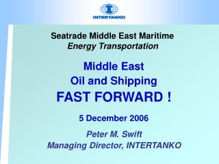 Seatrade Middle East Maritime Energy Transportation