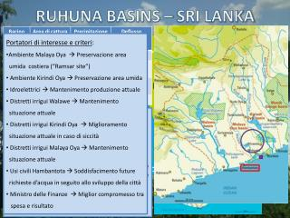 RUHUNA BASINS – SRI LANKA