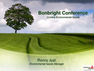 Bonbright Conference Current Environmental Issues