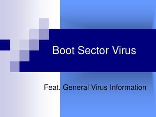 Boot Sector Virus