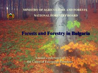 Forests and Forestry in Bulgaria