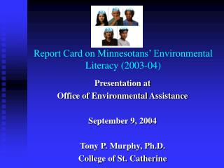 Report Card on Minnesotans' Environmental Literacy (2003-04)