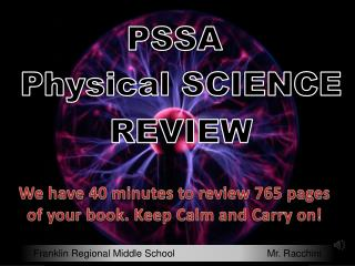 PSSA Physical Science Review