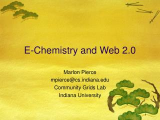 E-Chemistry and Web 2.0
