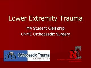 Lower Extremity Trauma