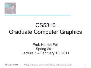 CS5310 Graduate Computer Graphics