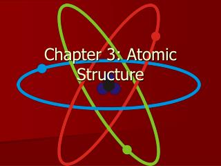 Chapter 3: Atomic Structure