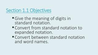 Section  1.1  Objectives