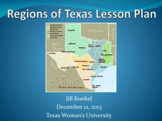 Regions of Texas Lesson Plan