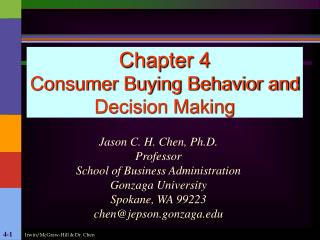 Chapter 4 Consumer Buying Behavior and Decision Making