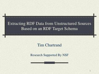 Extracting RDF Data from Unstructured Sources Based on an RDF Target Schema