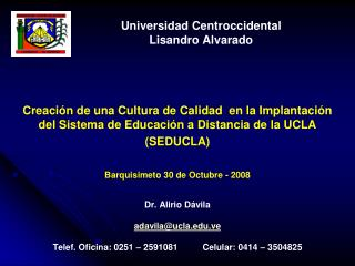 Universidad Centroccidental Lisandro Alvarado
