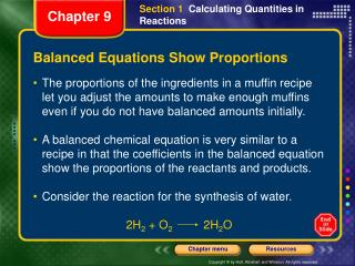 Balanced Equations Show Proportions