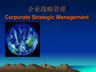 企业战略管理 Corporate Strategic Management