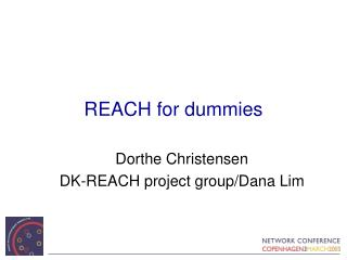 REACH for dummies