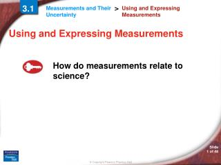 Using and Expressing Measurements