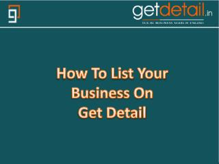 Getdetail Local Business Search Engine