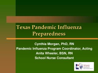 Texas Pandemic Influenza Preparedness