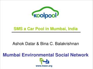 SMS a Car Pool in Mumbai, India