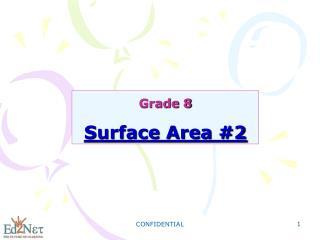 Grade 8  Surface Area #2