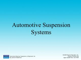 Automotive Suspension Systems
