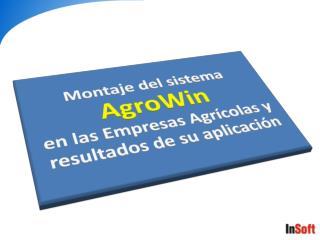 Definición de AgroWin