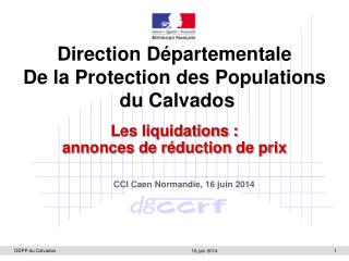 Direction Départementale De la Protection des Populations  du Calvados