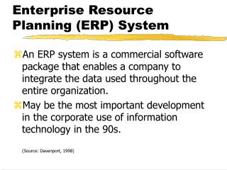 Enterprise Resource Planning ERP System