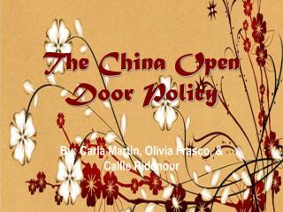 The China Open Door Policy